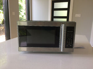 stainless steel countertop small microwave oven