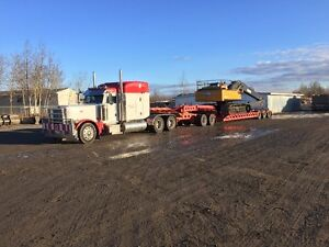 Low Bed Heavy Haul Services RGN Double Drop jeep and Booster Edmonton Edmonton Area image 1