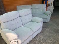 SCS Destiny 3 seater +2 seater reclining sofas ex display model
