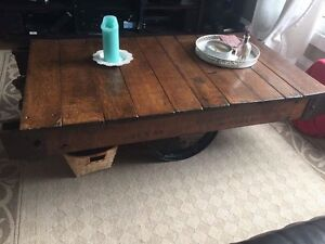 Beautiful vintage industrial table  London Ontario image 1