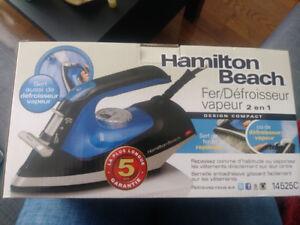 Fer à repasser/défroisseur neuf Hamilton beach