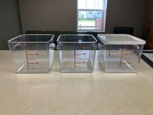 Rubbermaid Space Saving Food Storage Container - Clear - SET OF 3 with Lids!!