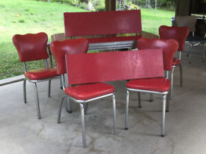 Retro Chrome Table and Chairs