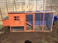 Barcelona Deluxe 8ft Chicken Coop / Rabbit Hutch & Run