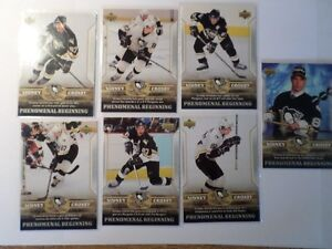 SIDNEY CROSBY HOCKEY CARDS  (7 Cards)   (VIEW OTHER ADS) Kitchener / Waterloo Kitchener Area image 1