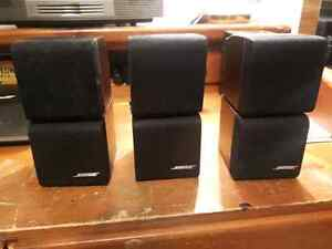 3 Bose Cube Style Speakers.