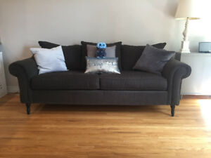 Grey Brown couch