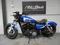 "HARLEY DAVIDSON XL 1200 X ""FORTY EIGHT"" BLUE/WHITE 2010 60'"