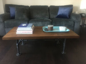 Rustic table set including coffee and side tables