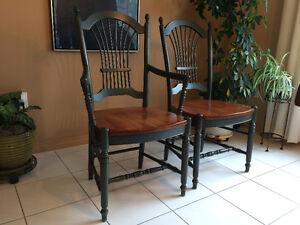 Ensemble de 6 chaises en bois massif -salle à manger