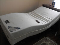 Twin Size Bed, Mattress, BoxSpring, Frame, & Remote Control