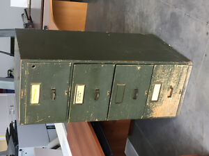 Awesome old government green filing cabinet
