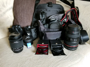 Canon 70d, canon et 24-105 L f4 and 18-55 stm,accessories canon