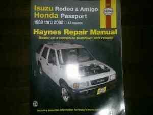 Haynes Manual for Honda Passport and Isuzu Rodeo and Amigo Peterborough Peterborough Area image 1