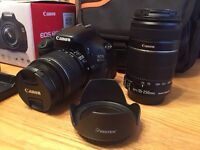 Canon EOS 600D DSLR CAMERA, lenses and accessories