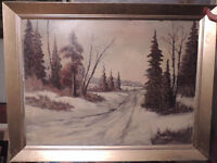 Listed Canadian artist old oil painting