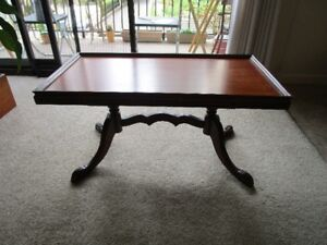 ANTIQUE  HAND CARVED WOOD COFFEE TABLE ZUK FURNITURE  CHICAGO