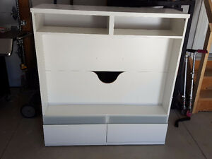 White TV Stand w/ Drawers