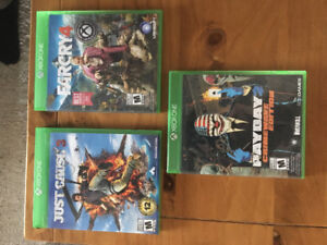 Jeux vidéo XBOX One, Just Cause 3, Far Cry 4 et Payday 2