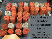 USED Insulated Construction Tarps