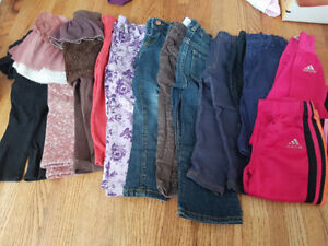 a box-full of girl clothes, used, size 2T