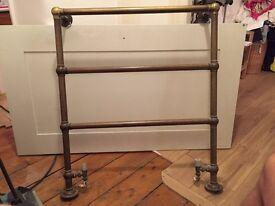Brass towel rail - working