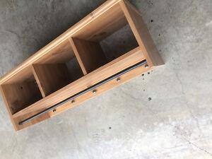 IKEA storage shelve with coat rack Cambridge Kitchener Area image 2