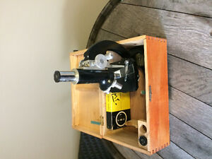 Vintage tasco deluxe high quality microscope in wooden box