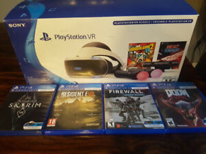 PS4 VR Playstation System with games and controllers