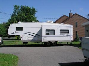 Caravane à sellette (fifth wheel)