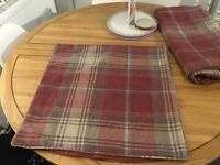 Next Stirling Red Tartan Check Cushion Covers