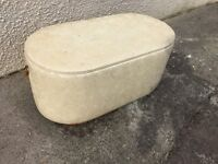 Ottoman project Pill shaped blanket box storage chest can deliver