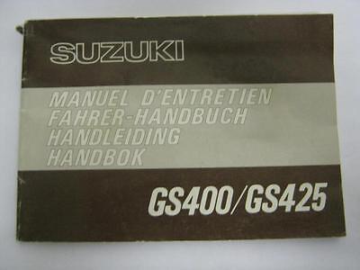 Suzuki GS400/425 GS 400 Owner's Manual, French, German, Dutch #18