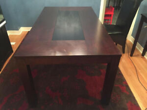 6-Seater Dining Table (Dark Chocolate) - Excellent Condition