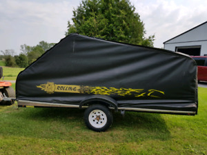 Enclosed Single ATV or Sled Trailer