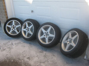 Snow Tires on Alloy Wheels, BMW,