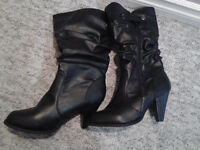 Brand New Black Boots Size 8 only $35