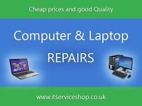 Computer (PC) and Laptop Repair - with visits to you or pick up. CALL OUT - FREE*.