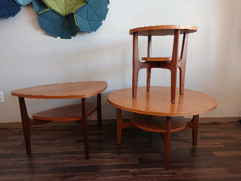 Mid Century Teak RS Associates Montreal Tables | Coffee ...