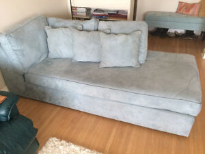 Blue MicroFiber Chaise Couch
