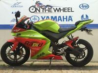 2011 YAMAHA YZF-R125 LIME GREEN/RED LOW MILEAGE! RIDE AWAY TODAY!