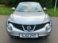 2012 Silver Nissan Juke Tekna AUTOMATIC CVT Stunning Low Mileage FSH Cheap Car