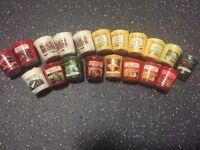 19 Rare yankee candle samplers