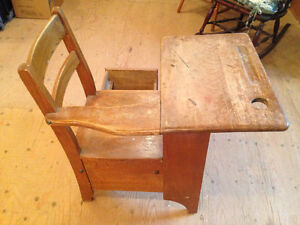 Wooden desk from one room schoolhouse Stratford Kitchener Area image 3
