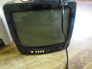 """zenith 13 """" tv, old works, remote, almost new looking"""