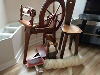 Ashford spinning wheel seat and extras