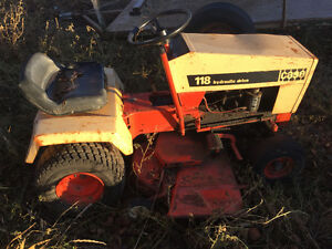 Case and Ford lawn tractor