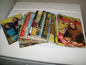 Vintage 1970s Stitchcraft Magazines, knitting crochet embroidery