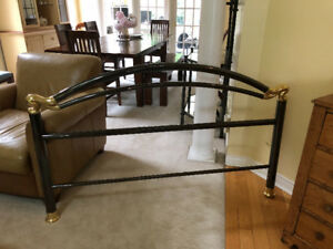 Queen Gunmetal Bedframe and Rails