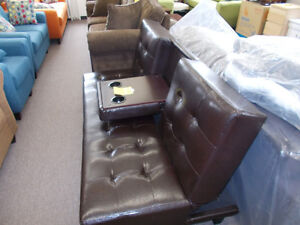 Click it couch with center fold down.